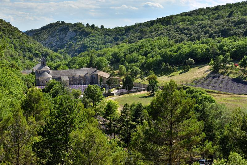 Senanque,法国修道院 免版税库存照片