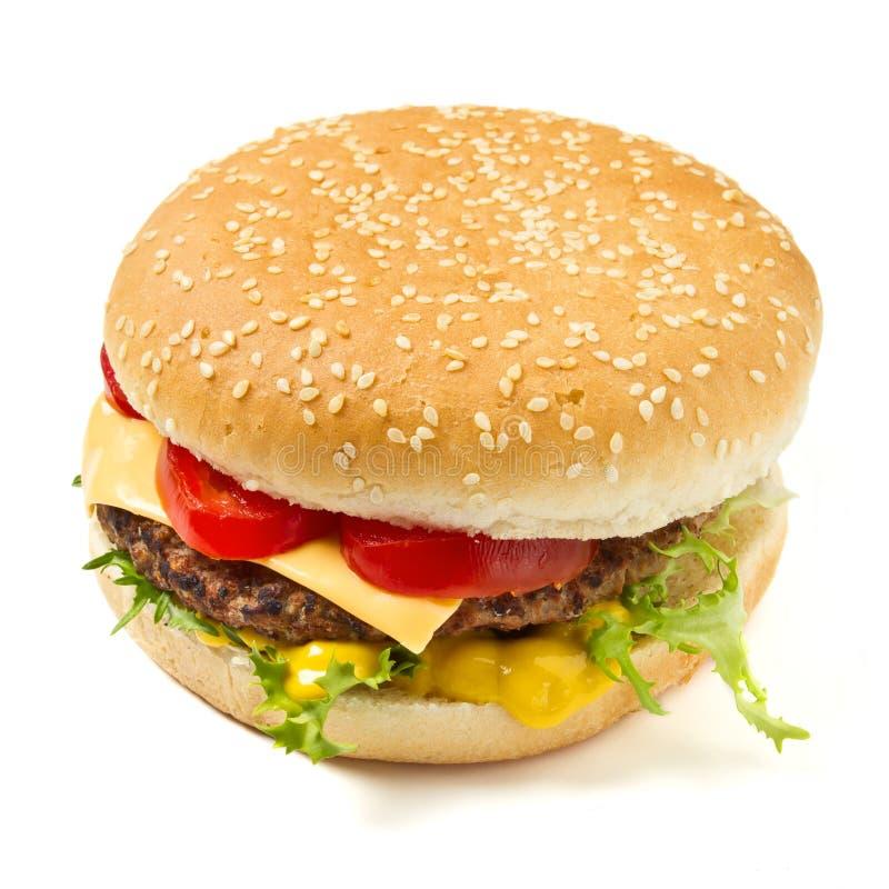 Senape del cheeseburger N fotografia stock