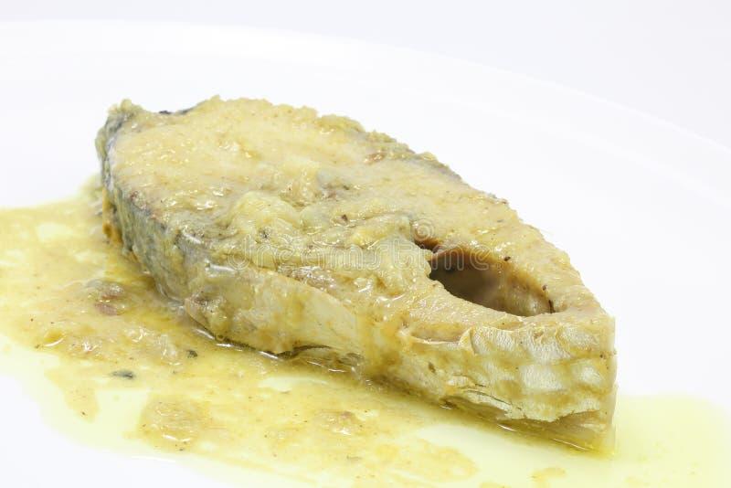 Senapsgult Hilsha fisk royaltyfri foto