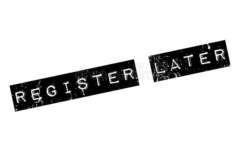 Senare rubber stämpel för register stock illustrationer