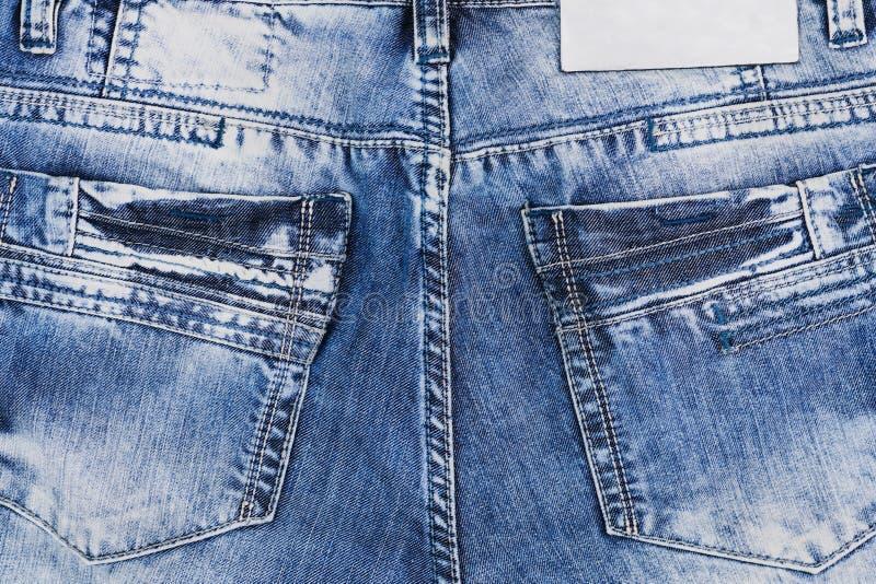 Senare töm fack på jeans royaltyfri bild