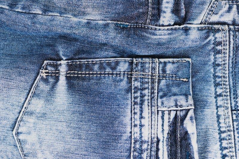 Senare töm facket på jeans royaltyfri fotografi