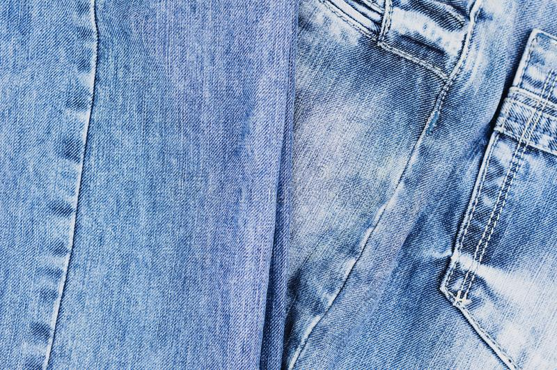 Senare töm facket på jeans royaltyfri bild