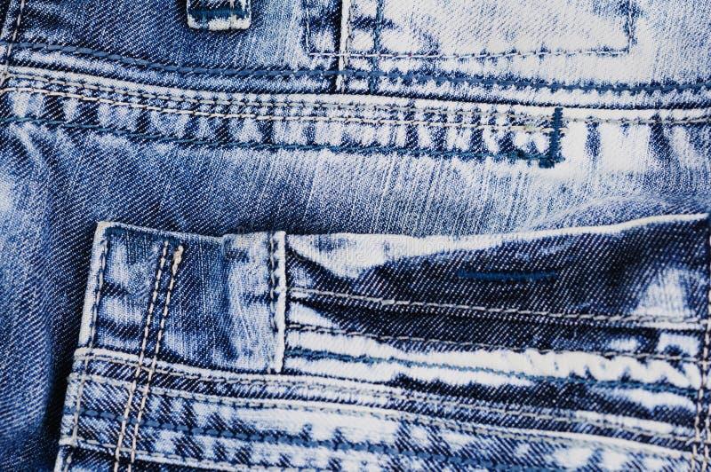 Senare töm facket på jeans arkivfoton