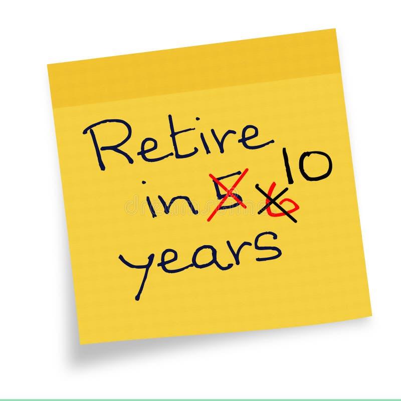 Senarelagd pensionsålder -, försenat senare royaltyfri illustrationer