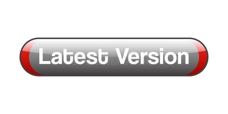 SENAST VERSION vektor illustrationer