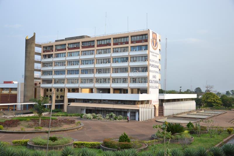 Senate Building OAU Univerty, Ile-Ife. Perspective view, An historical building, senate building of Obafemi Awolowo University, Ile-Ife, Nigeria. Architectural stock images
