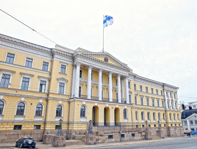 Senate Building (Palace of the Government of Finland). HELSINKI, FINLAND - JULY 6, 2015: Senate Building (Palace of the Government of Finland) in Helsinki stock photos