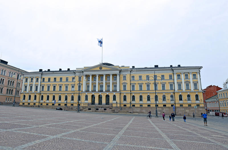 Senate Building (Palace of the Government of Finland) royalty free stock photography