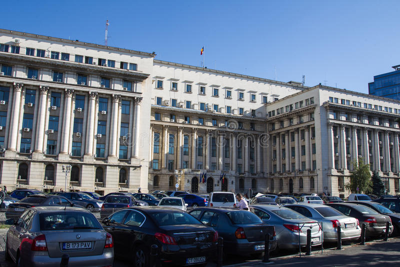 Senate Palace. ( the former headquarters of the Central Committee of the RCP ) is a building in Revolution Square in Bucharest. History of the palace started in stock image