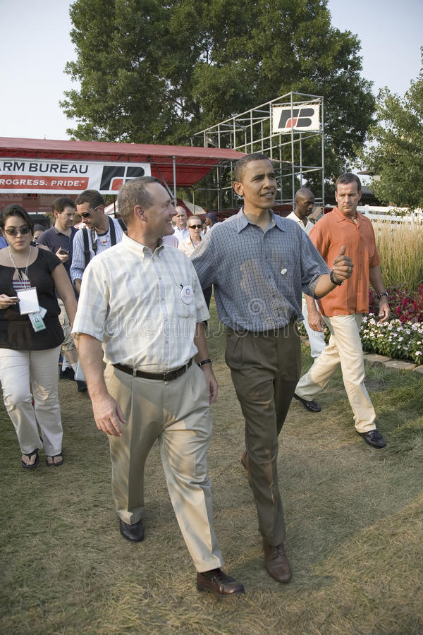 Senator Barak Obama som delta i en kampanj för president