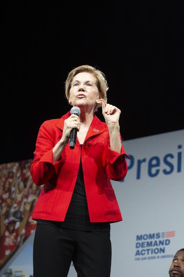 Senator Elizabeth Warren, August 10, 2019 royalty free stock images