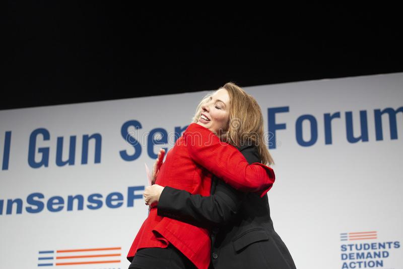 Senator Elizabeth Warren i Shannon waty obrazy stock