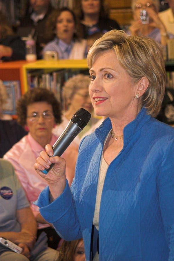 Senator Hillary Clinton stockbilder