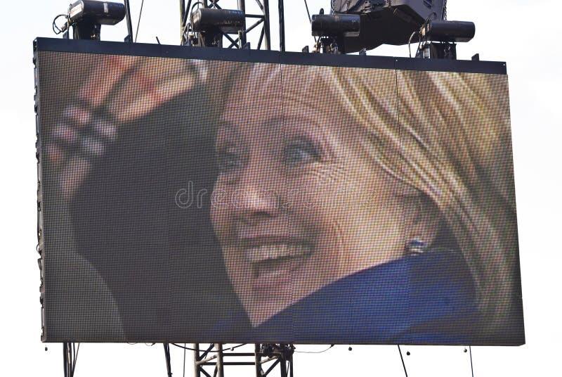 Senator Hillary Clinton stock photo