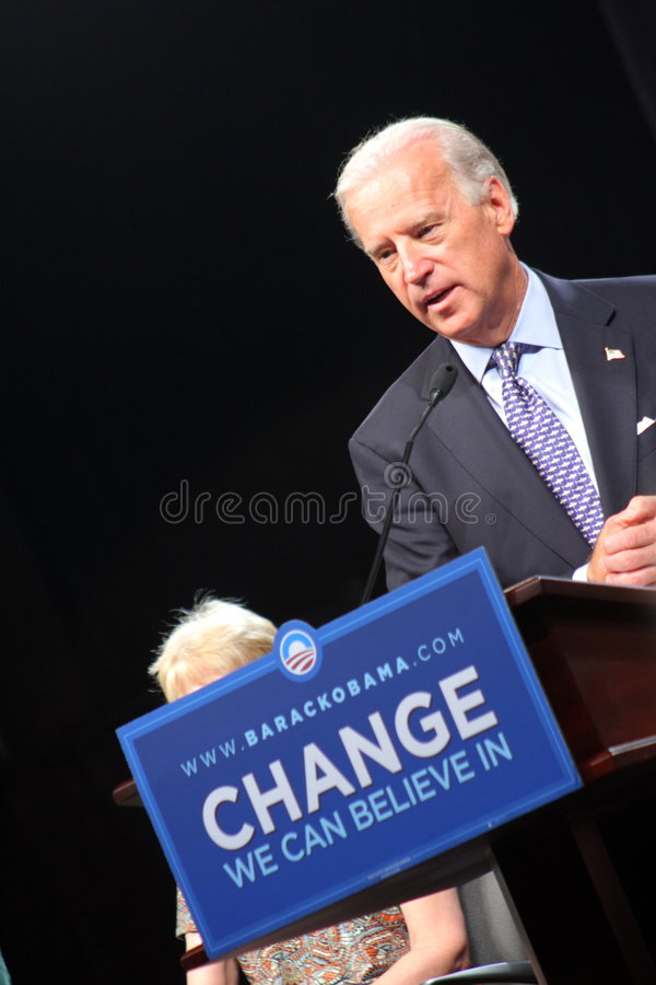 Senator Joe Biden royalty free stock photography