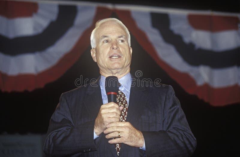 Senator John McCain stock foto's