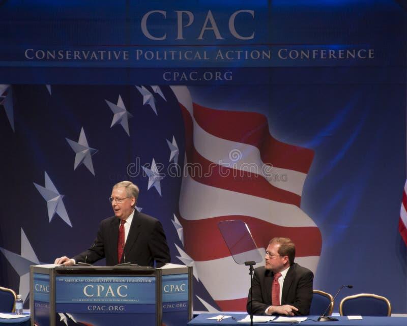 Senator Mitch McConnell bij CPAC 2011 royalty-vrije stock foto's