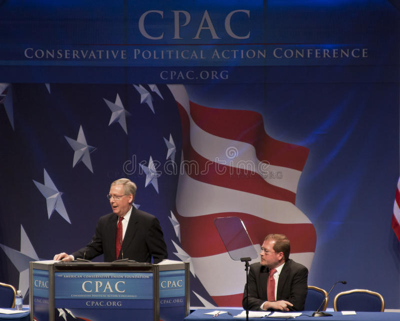 Senator Mitch Mcconnell em CPAC 2011 fotos de stock royalty free