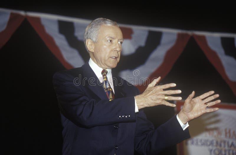 Senator Orrin Hatch stockbild