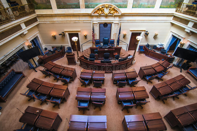 Senatskammer Utah stockfotos