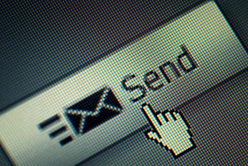 Download Send Button And A Hand Mouse Cursor Stock Photos - Image: 10225433