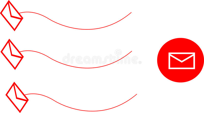 Download Send E-mail stock illustration. Illustration of mail - 10340295