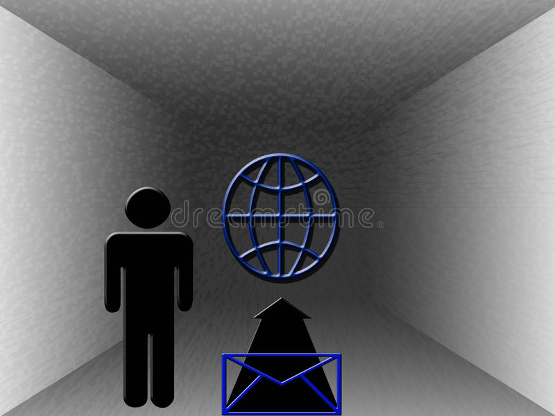 Download Send an Email stock illustration. Image of internet, globe - 10491678