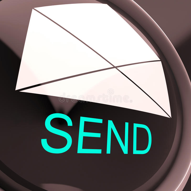 Send Envelope Means Email Or Post To Recipient stock illustration