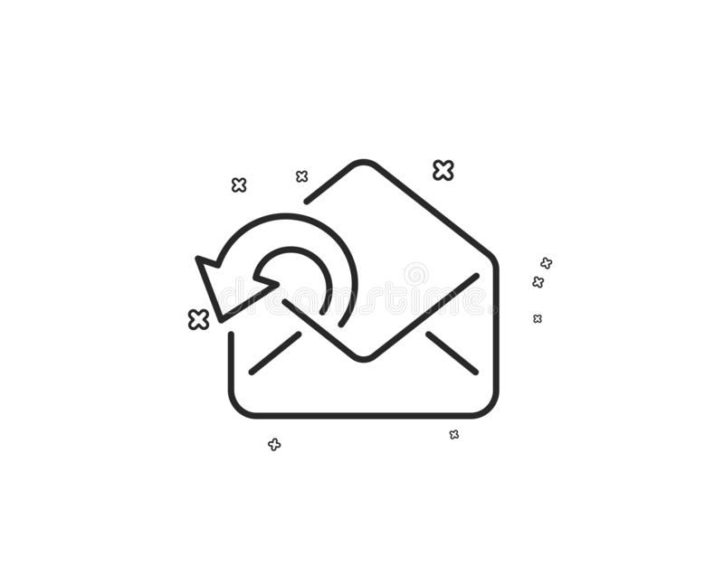Send Mail download line icon. Sent Messages correspondence sign. Vector. Send Mail download line icon. Sent Messages correspondence sign. E-mail symbol royalty free illustration