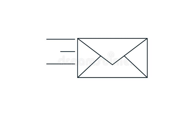 Send mail icon vector image. Send mail  icon  vector illustration. Flat style graphical symbol. can be used for web and mobile apps royalty free illustration
