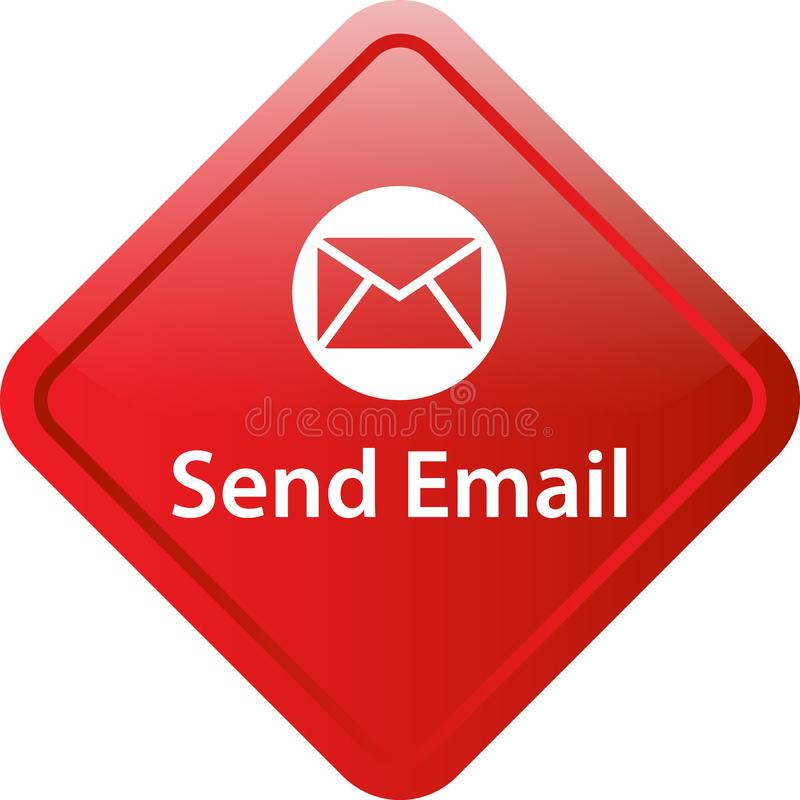 Send mail icon web button stock illustration
