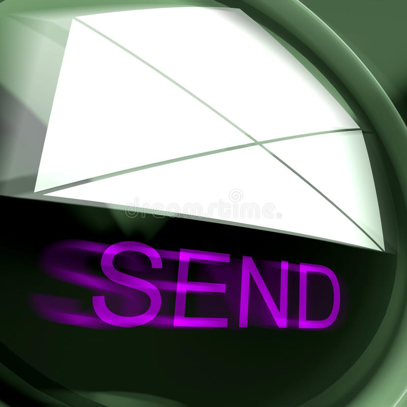 Send Postage Means Email Or Post To Recipient stock illustration