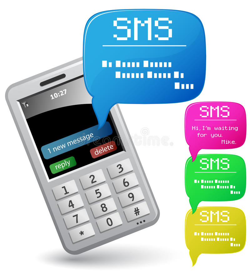 Download Send And Receive SMS Messages. Royalty Free Stock Photo - Image: 11187225
