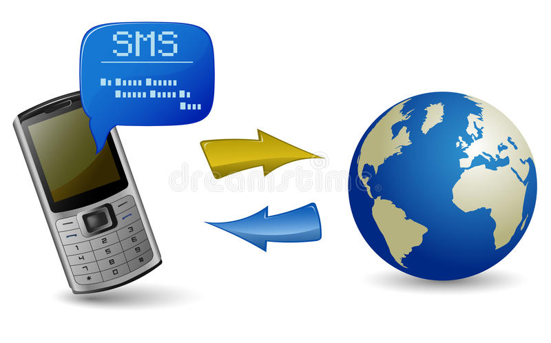 Download Send And Receive SMS Messages Stock Vector - Image: 12584473