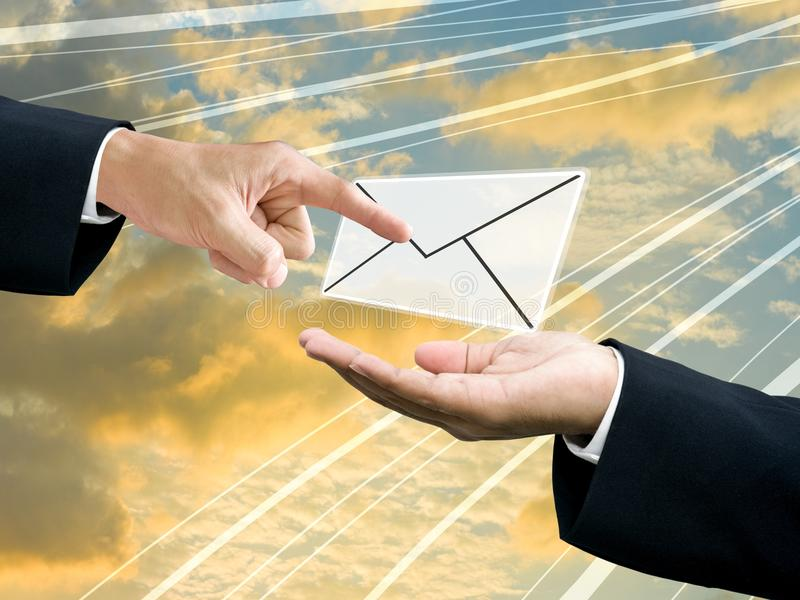 Download Send and recieve mail stock illustration. Image of computer - 25329230