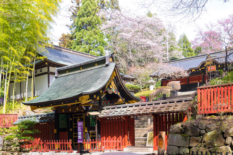 SENDAI, ЯПОНИЯ 12-ое апреля 2017, японская традиционная архитектура стоковая фотография rf