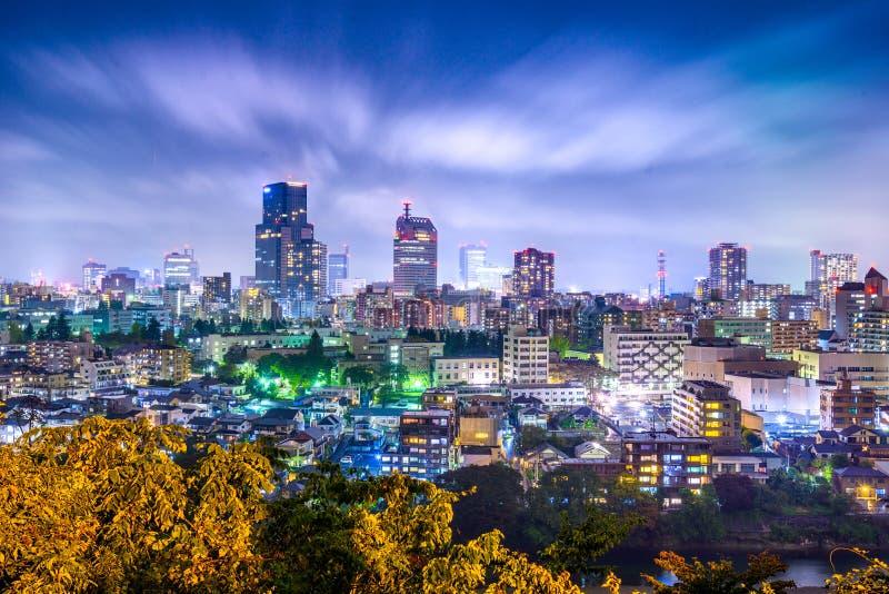 Sendai, Cityscape van Japan stock afbeelding