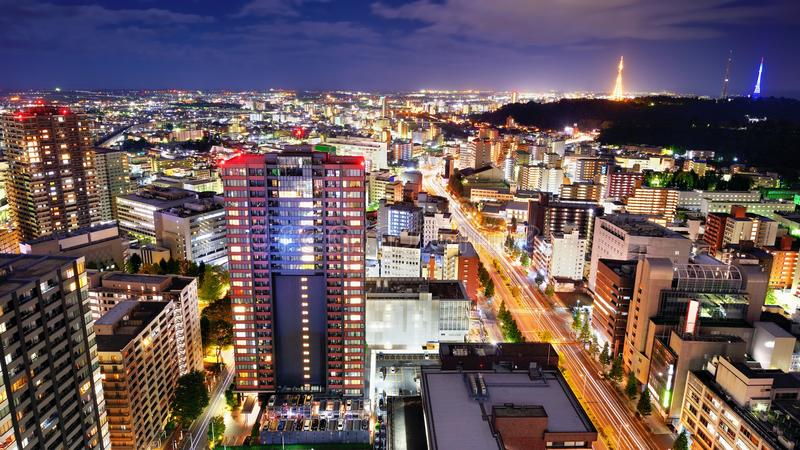 Download Sendai Japan Skyline stock photo. Image of metropolis - 30204366