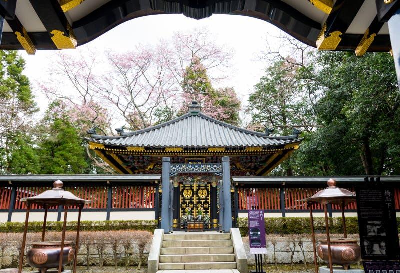SENDAI, JAPONIA - 12 2017 Kwiecień, Japońska Tradycyjna architektura zdjęcie royalty free