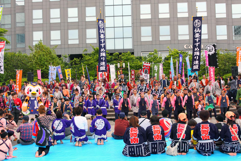 Sendai Suzume Odori 2011 royalty-vrije stock fotografie