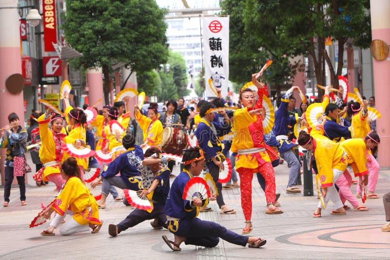 Sendai Suzume Odori 2011 royalty-vrije stock foto