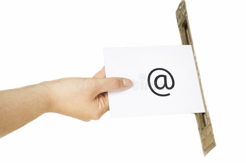 Senden einer E-Mail lizenzfreies stockfoto