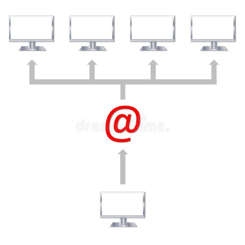 Senden einer E-Mail lizenzfreie abbildung