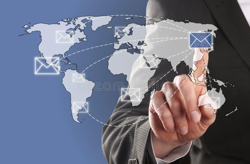 Senden Sie eine E-Mail lizenzfreie stockfotografie