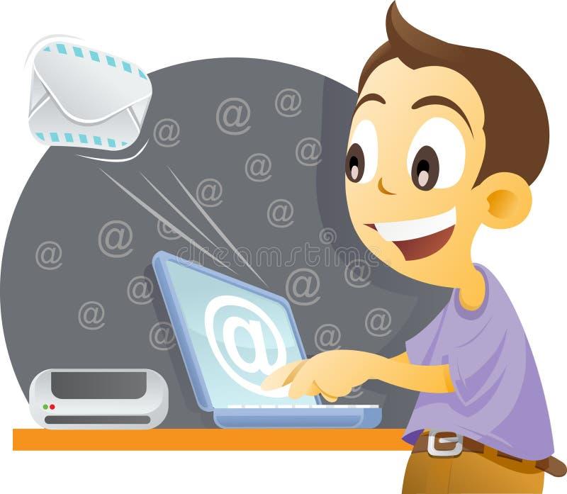 Senden von Post. lizenzfreie abbildung