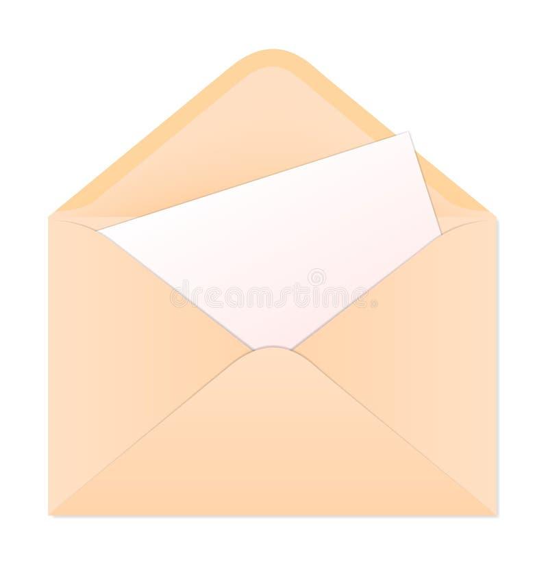 sendender Umschlag lizenzfreie abbildung