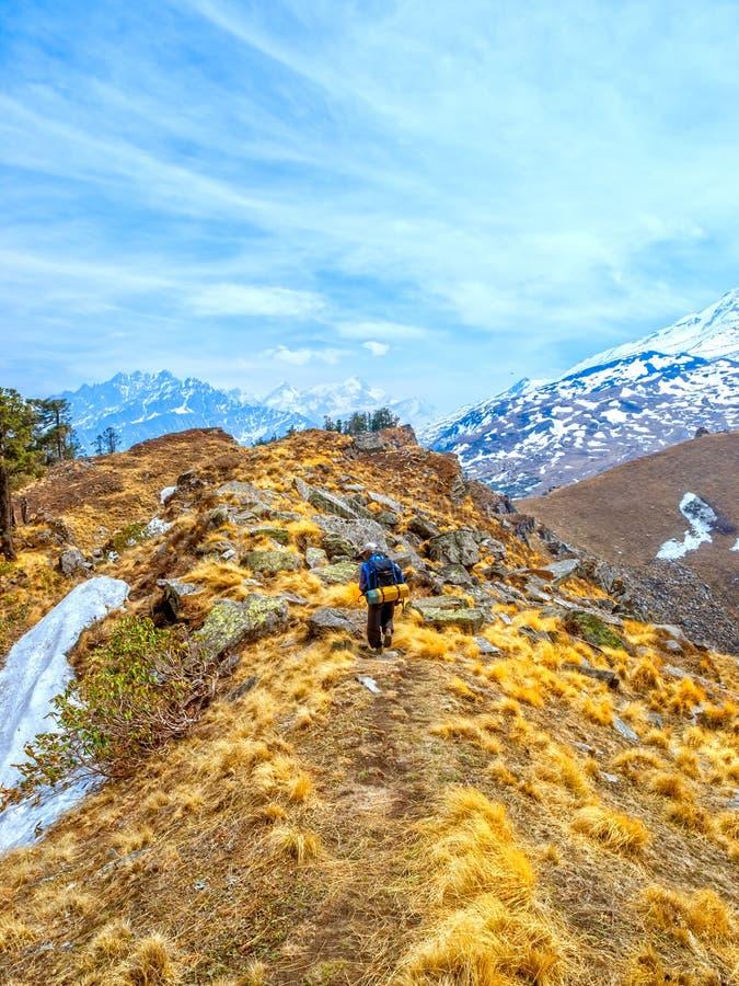 Senderismo Himalayan imagen de archivo
