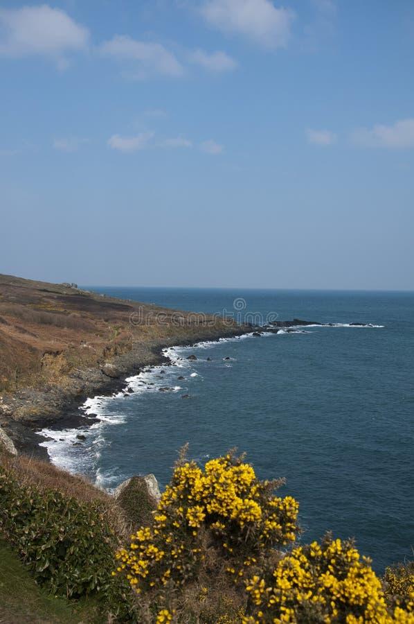 Sendero costero de St Ives hacia extremo de las tierras fotografía de archivo libre de regalías