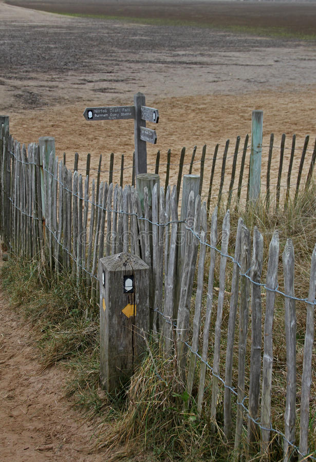 Sendero costero del norte de Norfolk, imagenes de archivo